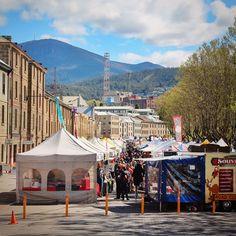 Salamanca Market, Hobart, Tasmania / A Globe Well Travelled Salamanca Market, Victoria Terrace, Tasmania Hobart, Bruny Island, Run Tour, Free Things To Do, Travel Memories, Great View, Wonders Of The World