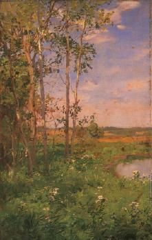 At the Edge of the Pond - Walter Launt Palmer - The Athenaeum