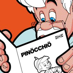 Papai Gepeto, por que você não ler Cinderela, Branca de Neve, Peter Pan?!!! DC