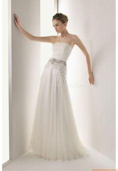 Trägerlos Kolumne Designer Brautkleider 2014 aus Chiffon