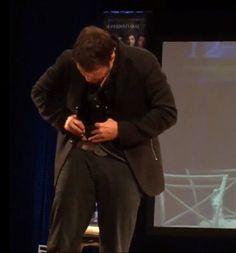 Misha @ MinnCon giving himself an auto-wedgie