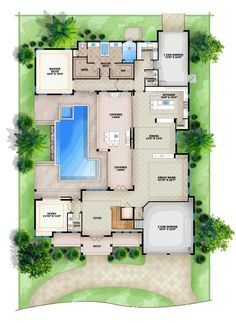 Contemporary House Plan 52905 Level One