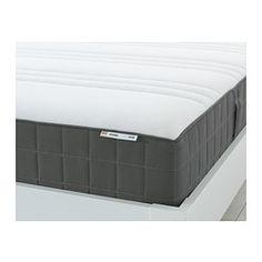 HÖVÅG Pocket sprung mattress - 180x200 cm, medium firm/dark grey - IKEA
