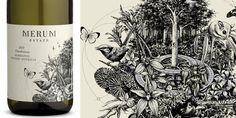 Merum Estate - The Dieline - The Package Design Website - Wine Packaging, Brand Packaging, Packaging Design, Doodle Inspiration, Design Inspiration, Wine Label Design, Design Department, Creativity And Innovation, Branding