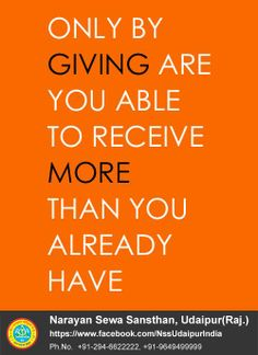 """Only BY Giving Are You Able TO Receive More Than You Already Have"" https://www.facebook.com/4kailash"