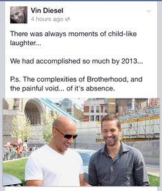 Vin Diesel & Paul Walker