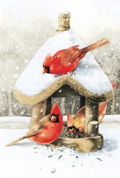 ❄Hiver❄  Illustration de Marjolein Bastin, artiste néerlandaise.