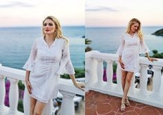 Get this look: http://lb.nu/look/8775381  More looks by Eleonora: http://lb.nu/thefashionscreen  Items in this look:  Biemei White Floral Embroidery Bell Sleeve A Line Dress   #bohemian #chic #elegant #vipme #totalwhite #beach #italy #bohochic #white