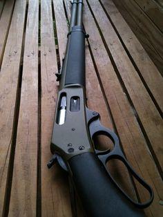 My first the ultimate truck gun, synthetic and Teflon Weapons Guns, Guns And Ammo, Henry Rifles, Lever Action Rifles, Shooting Guns, Military Guns, Hunting Rifles, Cool Guns, Firearms