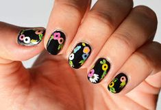 Nails Context: Summer Florals by Funky Nail Art, Funky Nails, Cute Nails, My Nails, Mexican Nails, Nail Mania, Acrylic Nails, Acrylics, Acrylic Flowers