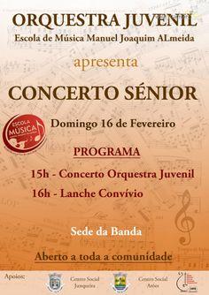 Concerto Sénior > 16 Fev 2014, 15h00 @ Sede da Banda, Junqueira, Vale de Cambra #ValeDeCambra #JunqueiraVLC