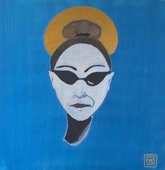 TELA BIANCA (il blog di Paola Marchi:riflessioni su arte e spiritualità) : SANTA SUBITO (AUTORITRATTO)