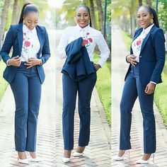 Ladies, please don't lemme talk too much on these outfits, they are so nice, cool and cute. They are the looks that will pace ways for you w. Business Casual Outfits For Work, Classy Work Outfits, Professional Outfits, Business Suits, Business Wear, Business Icon, Office Outfits, Work Casual, Chic Outfits