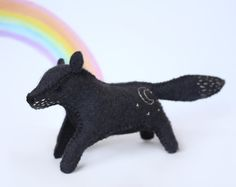 Felt Fox, felt wolf, or felt dog toy sewing pattern.  Browse unique items from LoriDesignsOnline on Etsy, a global marketplace of handmade, vintage and creative goods.