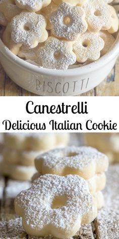 Canestrelli Delicious Italian Cookies Canestrelli a wonderfully delicious Italian Cookie, an almost shortbread type cookie but with a crunch, fast and easy. The perfect afternoon tea cookie. Italian Cookie Recipes, Easy Cookie Recipes, Cookie Desserts, Baking Recipes, Sweet Recipes, Dessert Recipes, Egg Yolk Recipes, Italian Lemon Cookies, Italian Wedding Cookies
