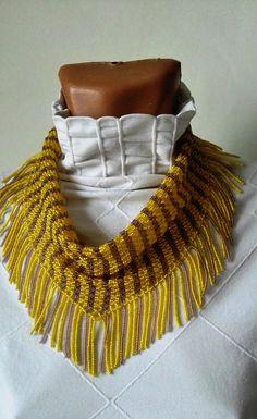 PDF tutorial pattern stripe neckerchief solitaire beaded shawl