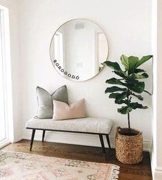 Home Living Room, Living Room Designs, Living Room Decor Simple, Plants In Living Room, Living Room Colors, Cozy Living Rooms, Hallway Designs, Home Interior Design, Interior Modern