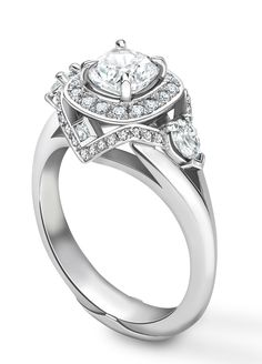 Bombay Deco Halo Ring Stunning Engagement Rings Pinterest Halo