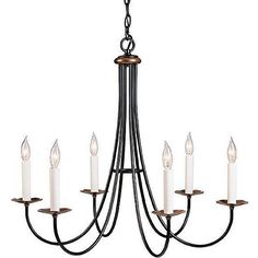 "I like the simplicity of this one  ""Hubbardton Forge Natural Iron Simple Sweet Chandelier"" 23Hx26D $615"