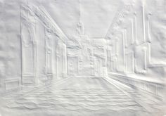 In his Paper Art series, Simon Schubert meticulously folds sheets of paper, creating a very shallow relief or bas-relief. When the lighting is right, the paper comes to life with depth and contrast. Each 'sculpture' is made from a single sheet of paper using only creases and folds. No additional colour is added to the works. About the author: Simon Schubert (born 1976) is an artist based in Cologne, Germany, …