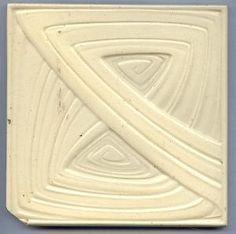 """Art Nouveau """"Knot"""" ceramic tile by Henry Van de Velde Azulejos Art Nouveau, Art Nouveau Tiles, Glazes For Pottery, Glazed Pottery, German Architecture, Tuile, Tile Stores, Academic Art, Antique Tiles"""
