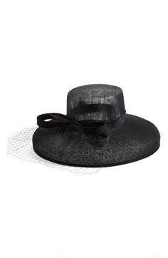 5e89f01cf27 Nordstrom Sinamay Hat with Point d Esprit