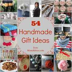 A list of 54 handmade gift ideas for everyone on your list from MomAdvice.com!