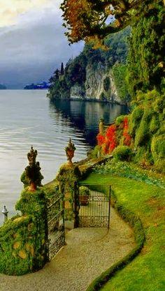 Gate opens to Lake Como ~ Italy