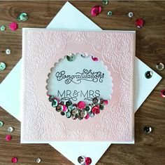 Wedding Day Cards, On Your Wedding Day, Dream Wedding, Handmade Card Making, Handmade Cards, Wedding Congratulations Card, Handmade Wedding Gifts, Wedding Letters, Girl Birthday Cards