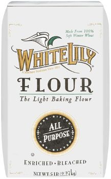 White Lily Flour. There are some that say that you have to have this brand to make good biscuits. I'll definitely say it makes it a heck of a lot easier. Light and fluffy and airy wonderfulness.