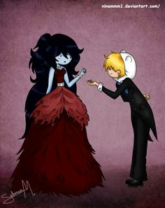 Adventure Time - Finn and Marceline. by on deviantart Watch Adventure Time, Adventure Time Marceline, Cartoon Network Adventure Time, Adventure Time Anime, Finn And Marceline, Adveture Time, Jake The Dogs, Fanart, Cartoon Crossovers