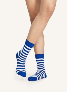 Raitsu -sukat - valkoinen, sininen - Marimekko.com