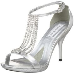 Chained rhinestone Tough Up silver high heel prom sandals #prom2014 #promshoes #silvershoes