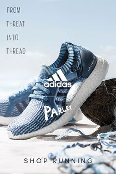 Get introduced to what a super-powered run feels like. The foot-hugging adidas Primeknit upper in these running shoes are made from yarn spun from recycled and reclaimed ocean plastic. Click to get yours.