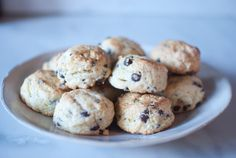 Chocolate chip mini scones