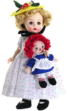 Marcella and Raggedy Ann from Madame Alexander available April 2012