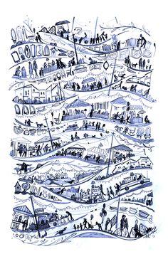 Flea Market by Livy Long, via Behance