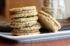 this looks so good...oatmeal peanut butter sandwich cookies...