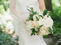 Romantic white & blush pink bouquet