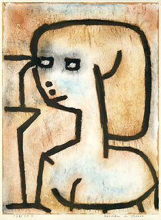 """Girl in Mourning"" 1939 Paul Klee."