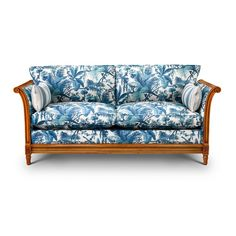 PAMPAS 'Chatsworth' Sofa - White / Cerulean - House of Hackney