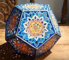 Hattifant: Mandala Night (LED) Candle Light - 3D Paper Art to DIY