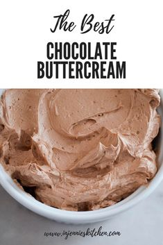 Looking for the Best Chocolate Buttercream Frosting? Look no further—it's here, and perfect for cakes, cupcakes, and any dessert that uses chocolate frosting.