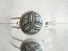 Cuff Bracelet Sacred Geometry Hand Painted Jewelry by ARTDORA, $29.00