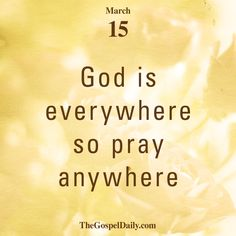 Be sure to sign up for our daily email at http://thegospeldaily.com/