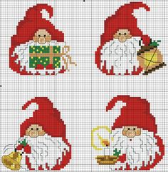 cross stitch pattern, intersia knitting, dwarf, christmas