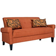 angelo:HOME Ennis California Vintage Orange Sofa | Overstock.com Shopping - The Best Deals on Sofas & Loveseats