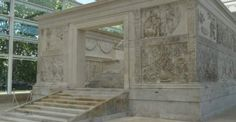 The Altar of Peace at the Museo dell'Ara Pacis, Roma Italia.