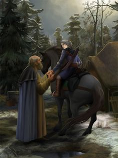 Vysogota of Corvo and Ciri. by steamey on DeviantArt Medieval Fantasy, Dark Fantasy, Fantasy Art, The Witcher Wild Hunt, The Witcher 3, Fantasy Illustration, Digital Illustration, Female Characters, Fantasy Characters