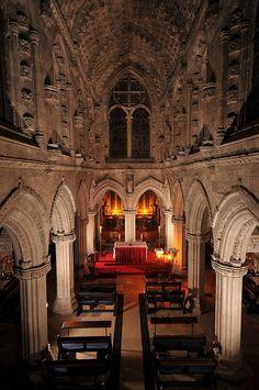 Rosslyn Chapel Interior, Scotland  by Vic Sharp, via Flickr